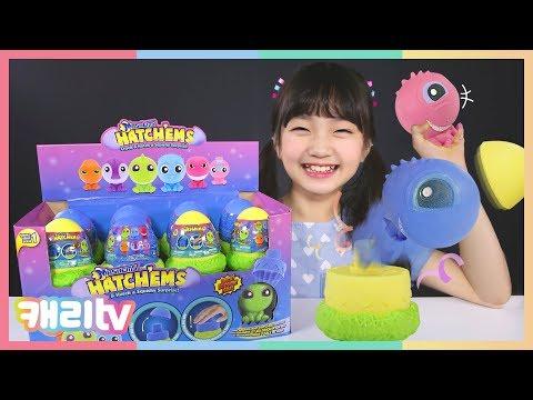 [장난감] 해침스 공룡알 서프라이즈 장난감 랜덤 뽑기 놀이