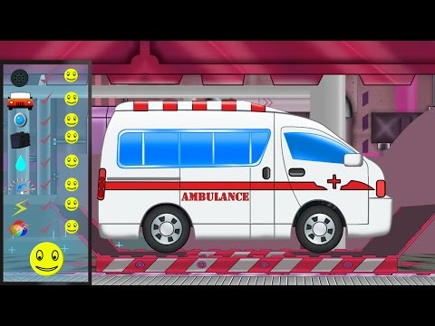 Ambulance Car Repair & Service | Car Garage Video For Children | Cartoon cars for children