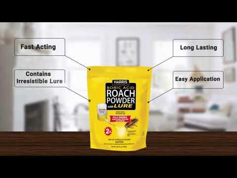 Harris Boric Acid Roach & Silverfish Powder With Lure
