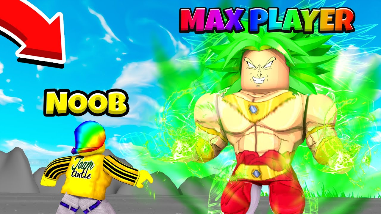he showed me his MAX CHARACTER!! SO STRONG!! (Roblox)