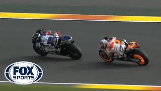 MotoGP Pedrosa Battles Lorenzo Valencia GP 2013