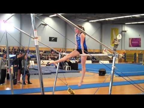 Hannah O'Connor - Samuel Marsden Collegiate School competing in gymnastics