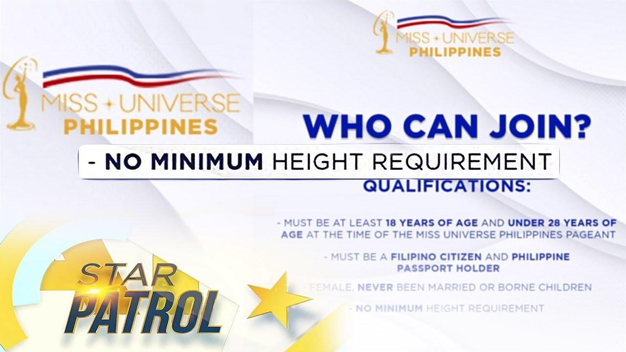 Height requirement sa Miss Universe PH tanggal na | TV Patrol