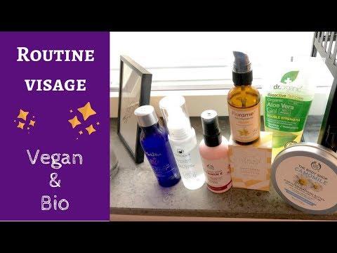 ROUTINE VISAGE : produits cosmétiques vegan et bio pour peau sèche et sensible