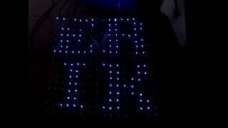 """light Bright"" Led Panel #2 - Color Pattern And Text Test"