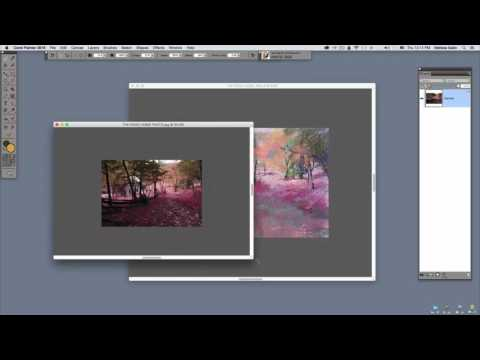 How to paint landscapes from reference using Corel Painter featuring Melissa Gallo