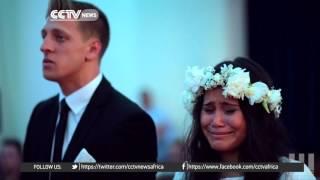 Groom's family performs Haka dance at wedding
