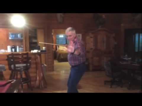Hollywood Actor Marshall Teague replays epic fights scene