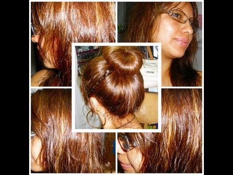Como teñir el pelo de color marrón chocolate - YouTube