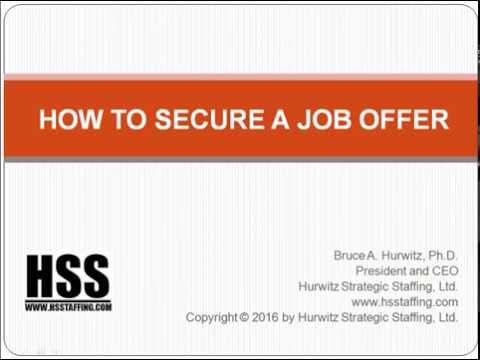 How to Secure a Job Offer