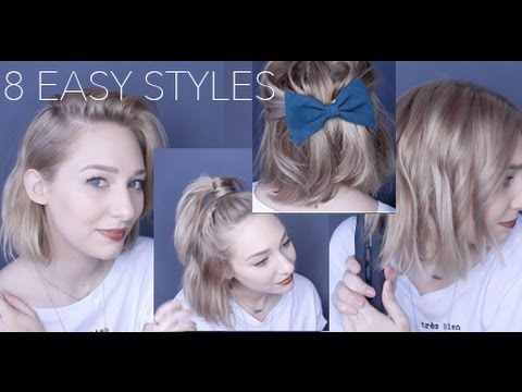 youtube short hair styling how to style hair casual amp simple 7328 | hqdefault