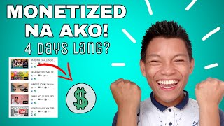 HOW TO GET MONETIZED WITHIN 4 DAYS? MONETIZATION APPROVED! TIPS AND TRICKS TAGALOG | Liomar Bailin