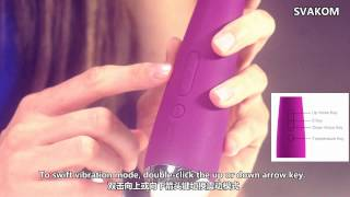 SVAKOM Emma Heating Function Rabbit ear shape Ultra strong Multi speed Intelligent Lasting Vibrator
