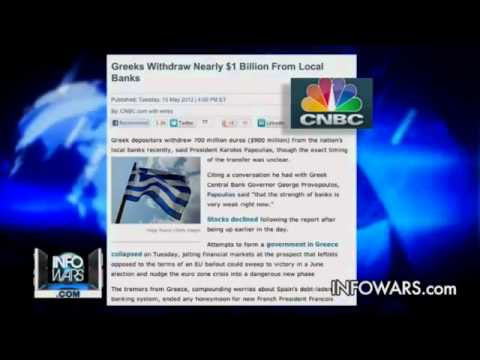 Greek People Run to Withdraw Money from Banks GREECE on Brink of COLLAPSE (Alex-Jones)