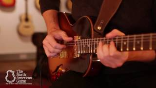The B&G Guitars Little Sister Crossroads electric guitar, played by...