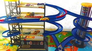 Toy Car Garage Parking Playset with Hot Wheels cars Toys for boys