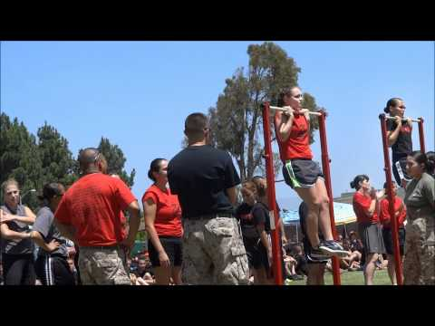 USMC flex arm hang (I was the winner!) - poolee function