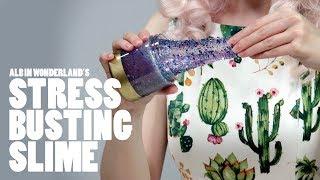 How to Make Stress Busting Sparkly Slime | ALB in Wonderland