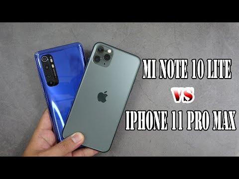 Xiaomi MI Note 10 Lite Vs IPhone 11 Pro Max   SpeedTest And Camera Comparison