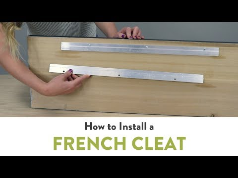 How to Install a French Cleat for Hanging Wood Signs   Woodland Manufacturing