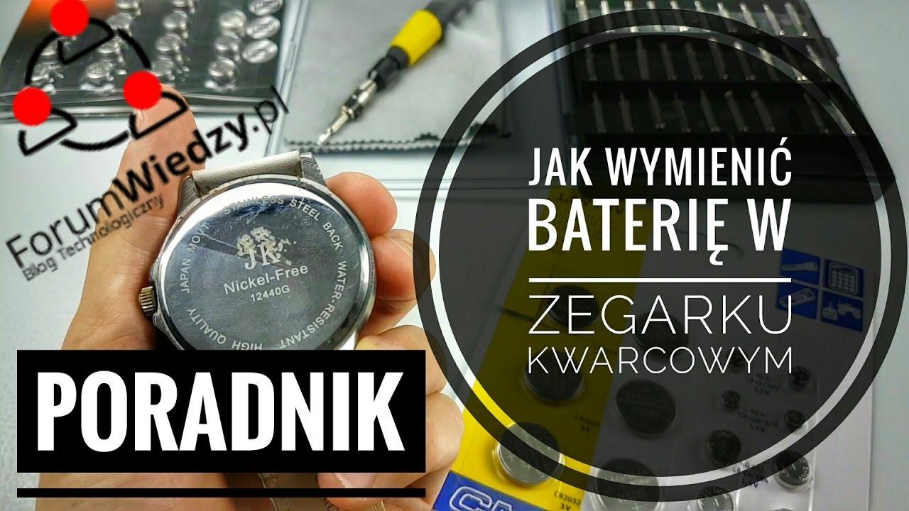 9552cf3eee6ff1 Jak Wymienić Baterię w Zegarku Kwarcowym PORADNIK - YouTube