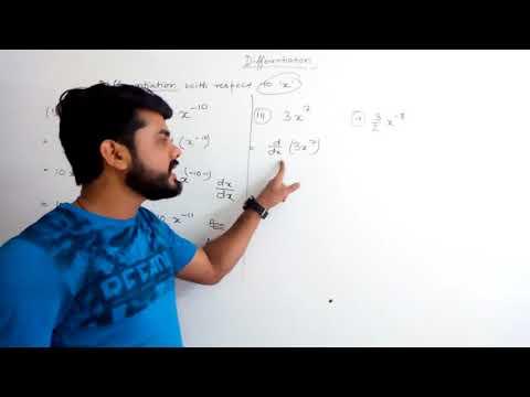 Part l- Differentiation | Bcom 3rd Year | CU