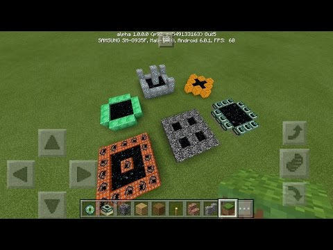 How To Make Custom Ender Portals in MCPE - Minecraft PE (Pocket Edition)