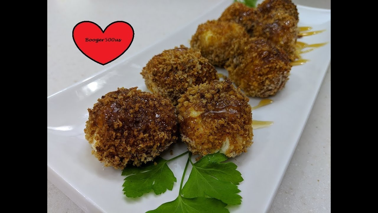 Easy way to make cheese balls fried goat
