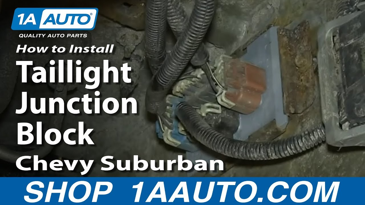 how to install replace taillight junction block 2002 06 chevy suburban and tahoe youtube. Black Bedroom Furniture Sets. Home Design Ideas