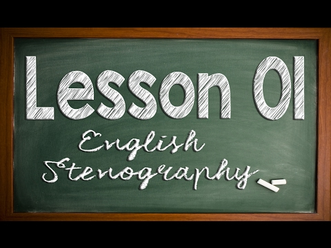 English Stenography: Lesson 01