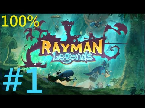 Rayman Legends Walkthrough Part 1 Rayman is finally here ! [Full HD/English]