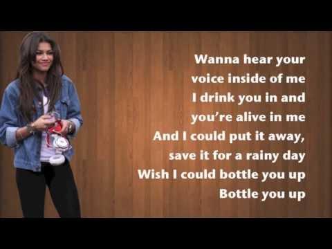 Zendaya - bottle you up - Lyrics