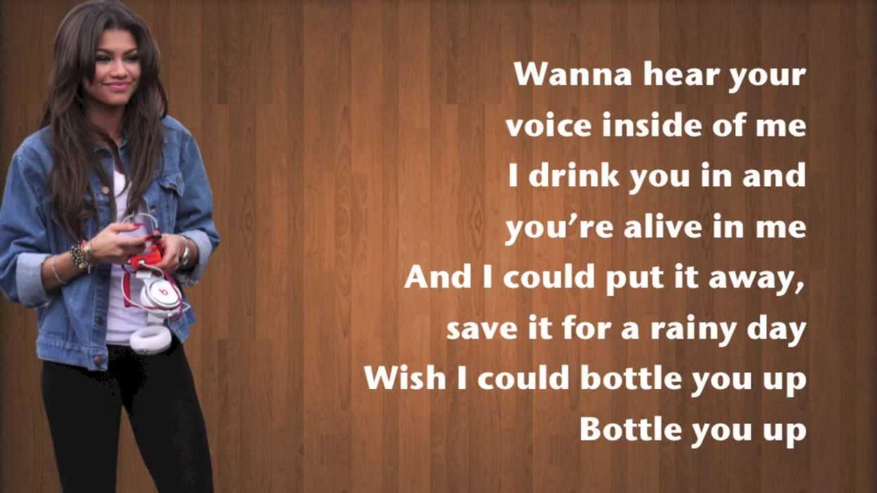 Zendaya bottle you up lyrics