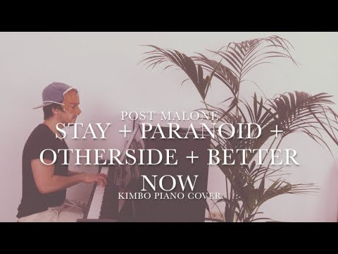 Post Malone - Stay + Paranoid + Otherside + Better Now (Piano Cover) [+Sheets]