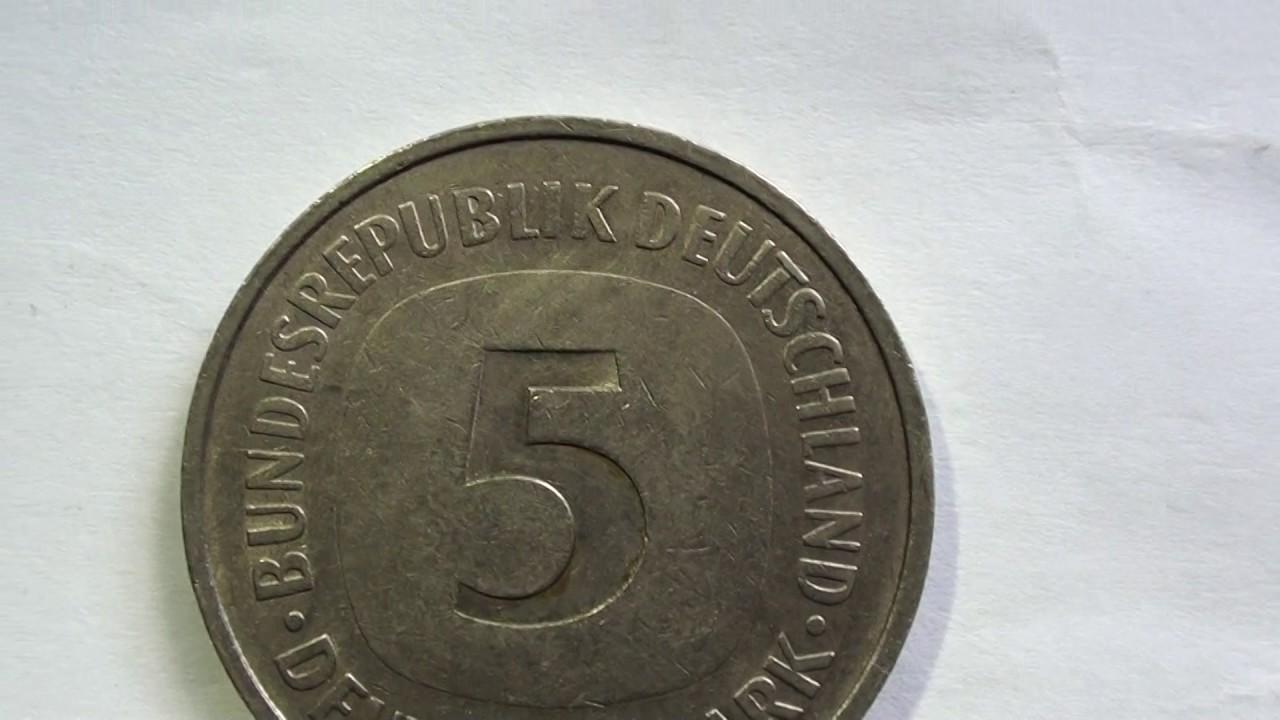Coin 5 Bundesrepublik Deutchland Deutsche Mark 1975 F Youtube