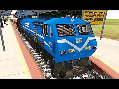 Indian Train Simulator - WDG 4 (Blue) Tejas - Asansol to Kharagpur