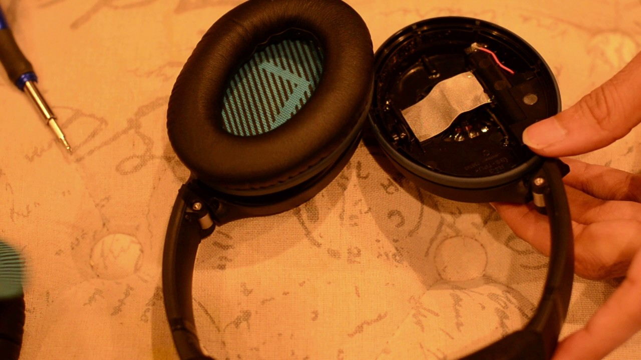 bose qc 25 headset how to fix right side  [ 1280 x 720 Pixel ]