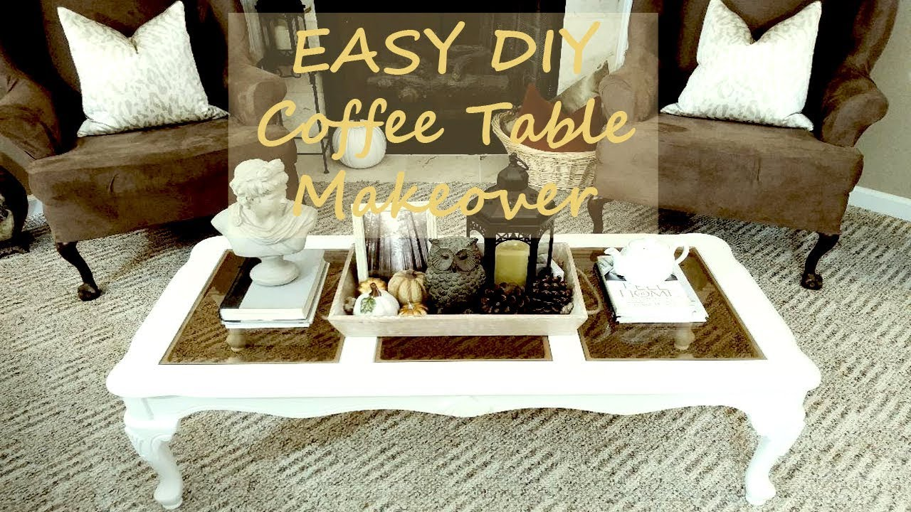 Easy To Build Coffee Table.Easy Diy Coffee Table Makeover