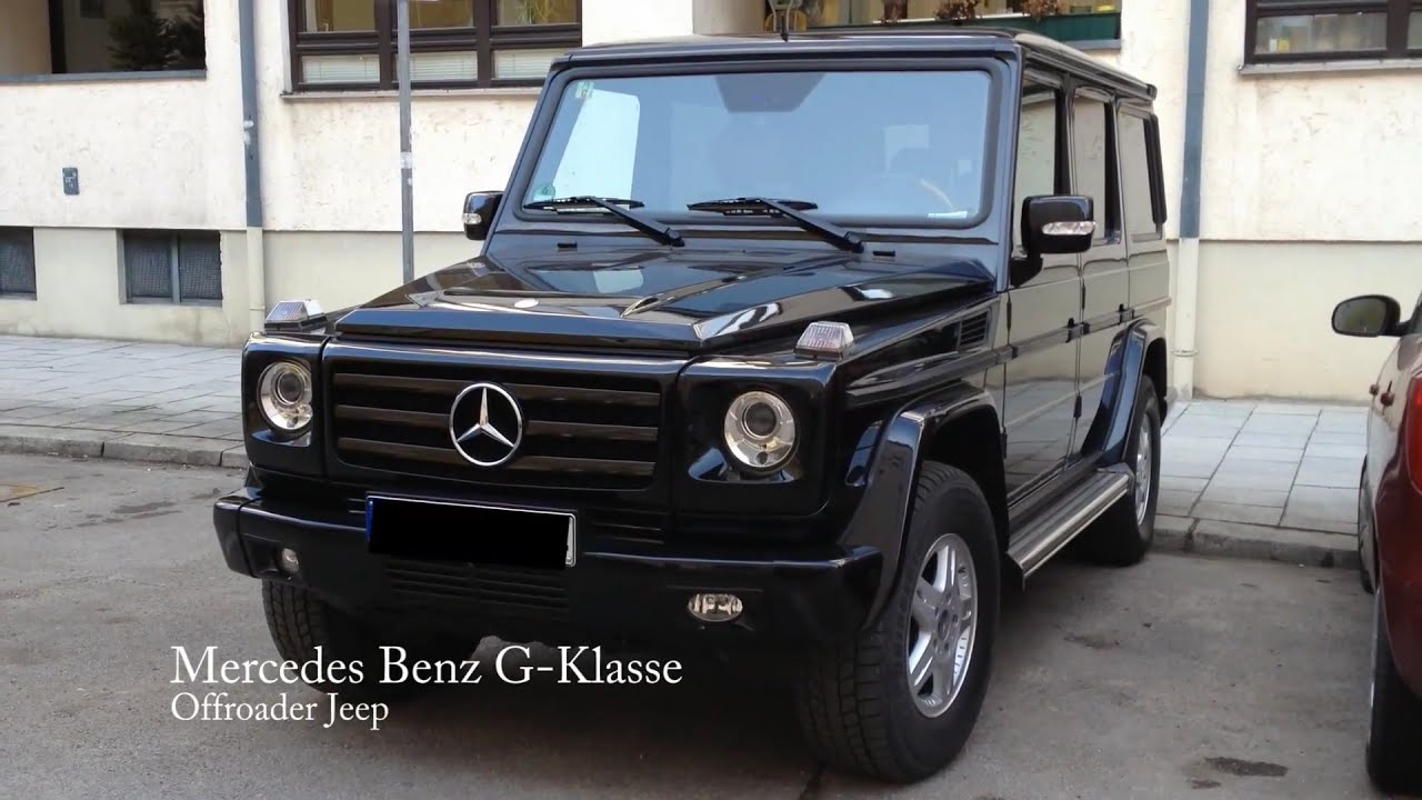 mercedes benz g klasse offroader jeep youtube. Black Bedroom Furniture Sets. Home Design Ideas
