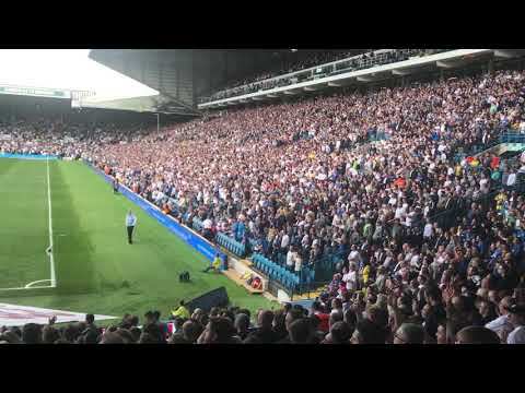 Leeds united fans singing marching on together at elland road lufc v pnefc 12/08/17