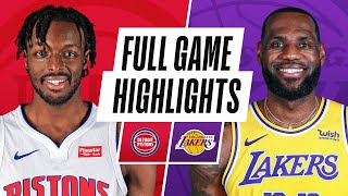 PISTONS at LAKERS | FULL GAME HIGHLIGHTS | February 6, 2021