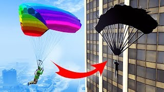 PARACHUTE PRECISION IN SKYSCRAPERS! (GTA 5 Funny Moments)