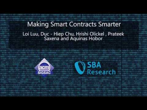 CCS 2016 - Making Smart Contracts Smarter