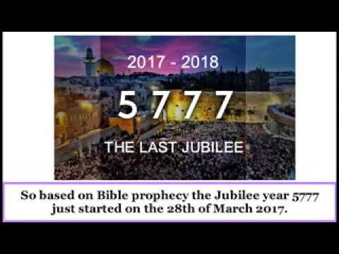 Rapture   Proof that we are still in the Jubilee Year 5777 2017 2018
