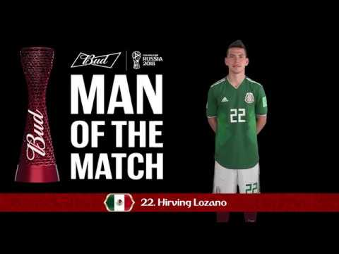 competitive price 54348 59048 Hirving LOZANO (Mexico) - Man of the Match - MATCH 11
