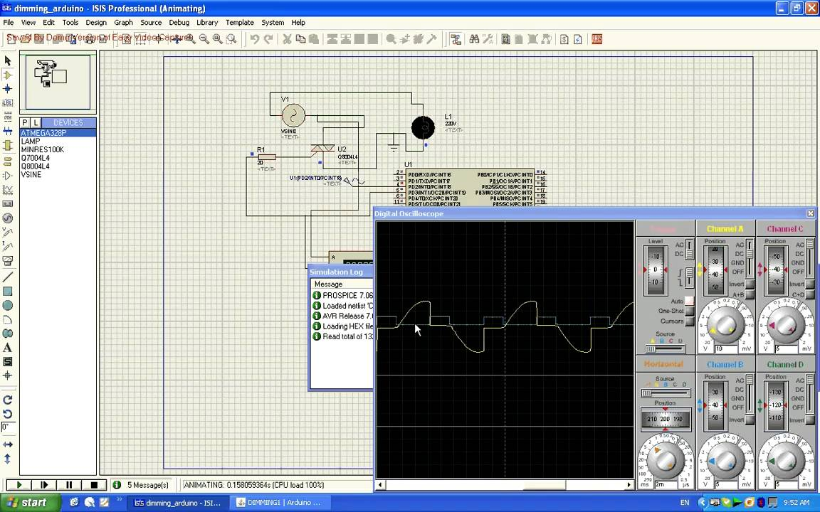 Signal Generator With 8 Bit Dac Youspice Triac En Proteus Heartbeat Monitor Circuit Led And Photocell