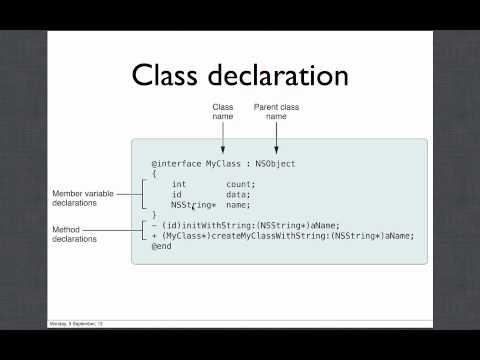 Objective C and Mac OS X Development, Lecture 1