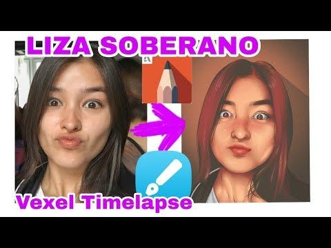 Vexel art full timelapse - Liza Soberano - Autodesk Sketchbook tutorial thumbnail