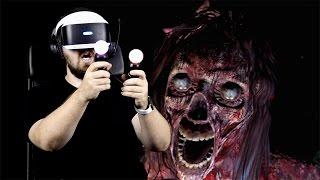 Играем в PS VR на PS4 Pro   очень страшно