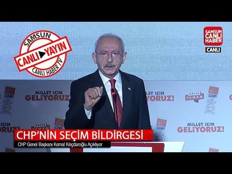 CHP'nin seçim bildirgesi: Genel Başkan Kılıçdaroğlu seçim bildirgesini açıklıyor...